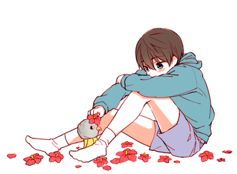 Haru with Iwatobi-chan by booombom