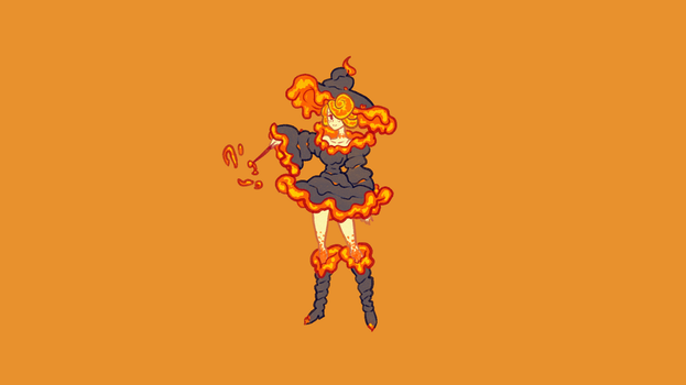 Lava witch concept art by wyvernsmasher