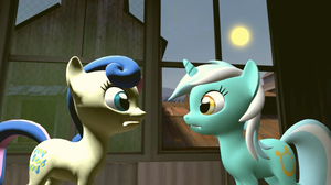 Lyra and Bon Bon in SFM #1 | A Sunny Day by EDplus