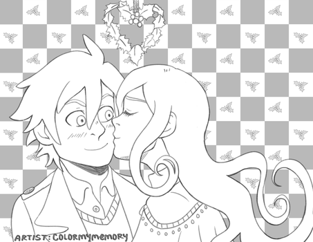 Commission: Historyman101 (Holiday Kiss) by colormymemory