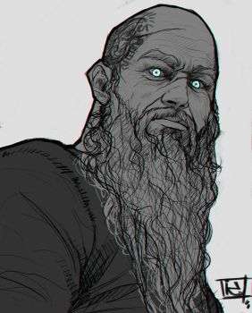 King Ragnar sketch by Hype-Arts