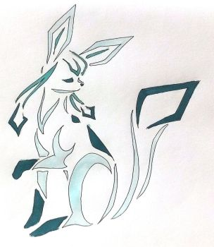 Glaceon tribal design by Eothnoguy