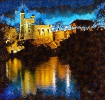 Night Castle 05b by RHuggs