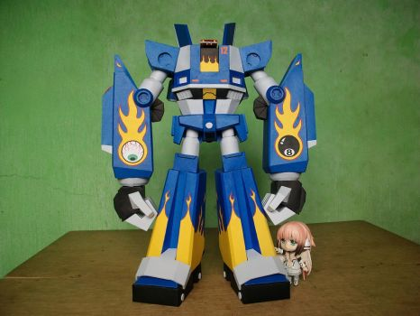 Megas XLR Project:Papercraft M.E.G.A.S. Complete 5 by MarcGo26