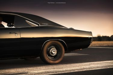 black 1968 Dodge Charger by AmericanMuscle