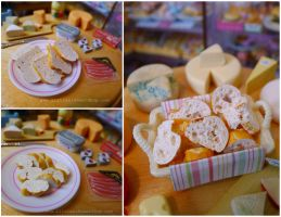 Miniature sliced bread by LittlestSweetShop