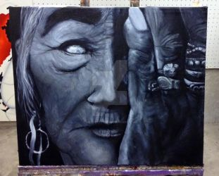 Old woman by mettetettee