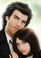 Cameron and Lenne by shuangwen