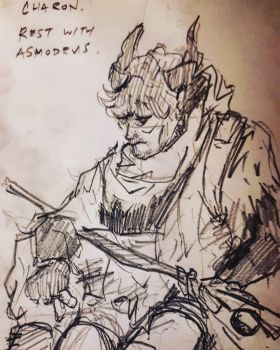 DNDDoodles: A Long Rest with Asmodeus by MArchCO