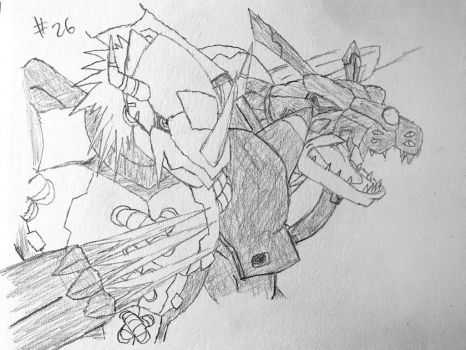 Digimon Sketch Challenge: Day #26 by Omnimon1996