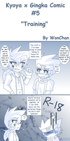 Kyoya x Gingka Comic #5: Training by WonChan108