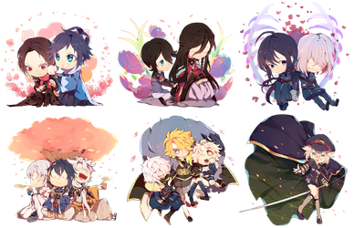 Tourabu: Charms Set -OPEN FOR PRE-ORDERS- by redricewine