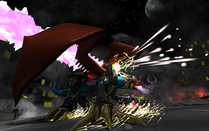 Imperialdramon-DM Action Shot by LordOfDragons