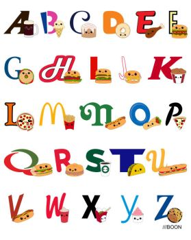 Fast Food Alphabet by mbaboon
