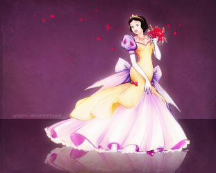 Wedding dress for Snow White by Opaphir