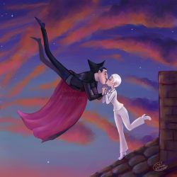 Rooftop Kiss by Demona-Silverwing