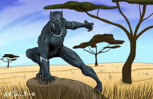 Black Panther by RoninH5X
