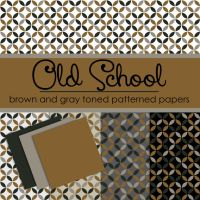 Free Old School Brown and Gray Toned Papers by TeacherYanie