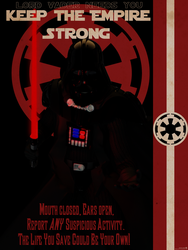 Keep the Empire Strong (WWII style Poster) by CMKook-24601