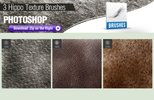 3 Photoshop Brushes for Painting Hippo Skin by pixelstains