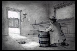 Waiting In The Saloon by TheArtofAdamKnight