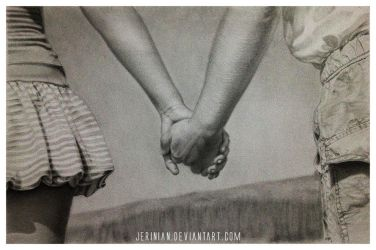 Holding hands by jerinian