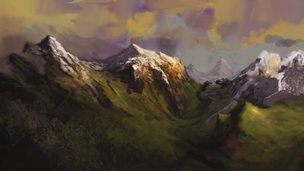Mountains by lordFelwynn