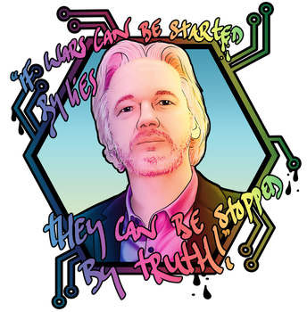 Julian Assange by CultCreations