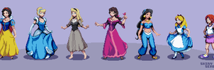 Princesses of Heart Sprite Group by ShinySeabass