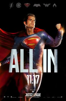 Justice League Movie poster - Superman ALL IN by SaintAldebaran