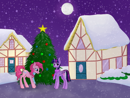 Christmas in Ponyville by VeraBrony