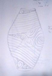 Coil Vase concept sketch  by Dragonshadow3