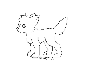 Free wolf puppy base by Twine-Adopts