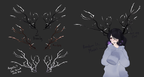 [ MMD ] Branchy Antlers Dl by Mea-Scinta