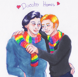 Disaster Homos by Sparr0wlicious