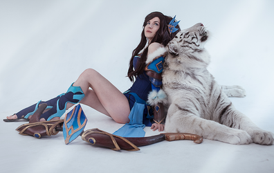 Mirana and Sagan dota 2 cosplay by amio-mio