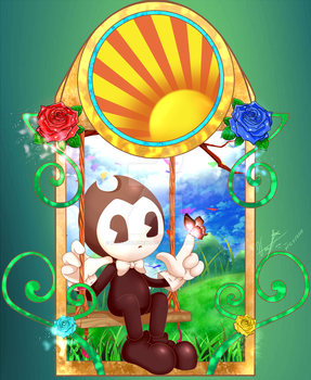 Bendy in Spring by XcrystalthewolfX