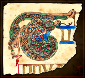 Initial Letter T by Siobhan68