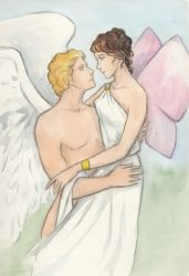 Psyche and Eros by AnotherStranger-Me