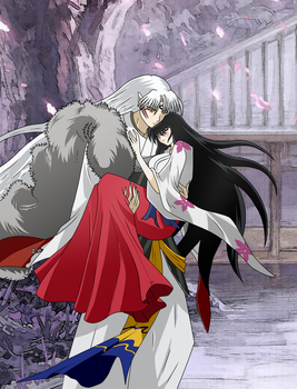 Lord Sesshomaru and Lady Rin Love by inu-sessh-rin