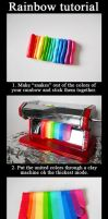 Polymer clay rainbow tutorial by ALINAFMdotRO