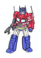 Optimus Prime by mikedaws