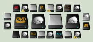 New Windows Drive Icons by CitizenJustin