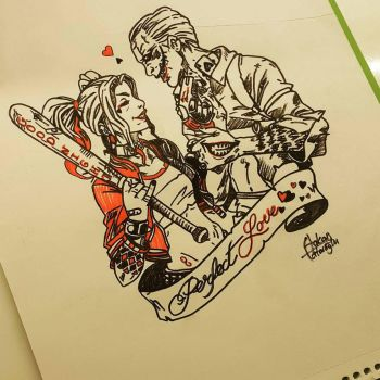 DC: Suicide Squad - Harley Quinn  Joker by H3LL5P4WNTR