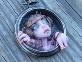Steampunk Myxie Pocket Watch Pendant by MysticReflections