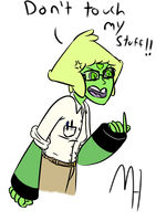 If Peridot lived in an 80's high school movie by AverageProdigy