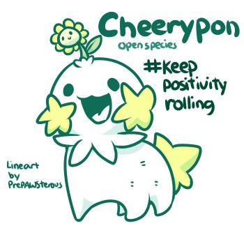 :Cheerypon(Open Species with free lineart): by PrePAWSterous
