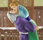 Gift - Kiss in the snow by InkieRose