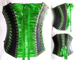 Corset 1880s Style Front Lacing by WildeMaide