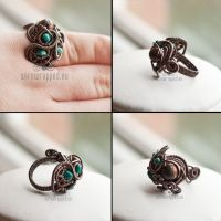 Jasper and turquoise ring by ukapala